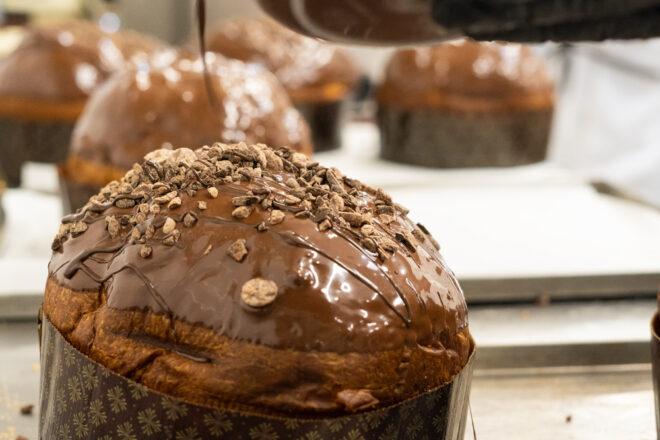 Produzione panettone cioccolato