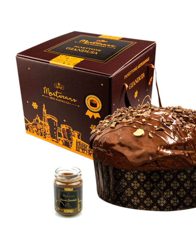 Set panettone gianduia marturano e vasetto gianduia